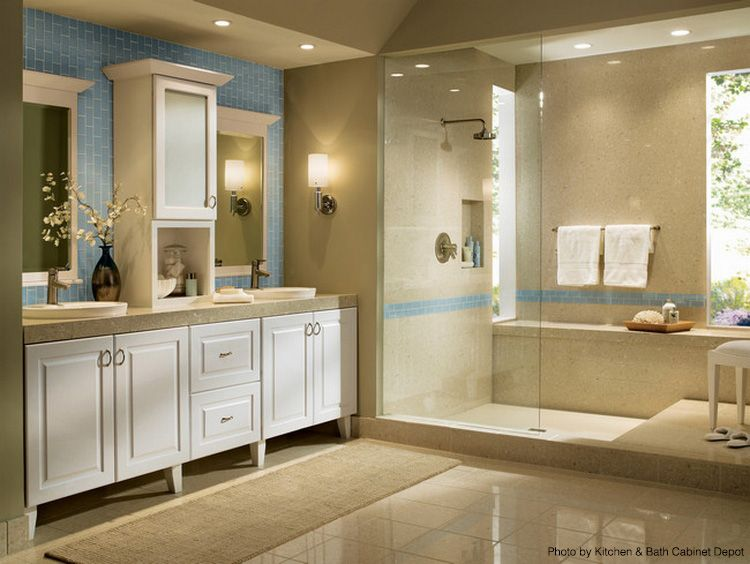 Large Contemporary Bathroom With A Walk In Shower A Rainfall