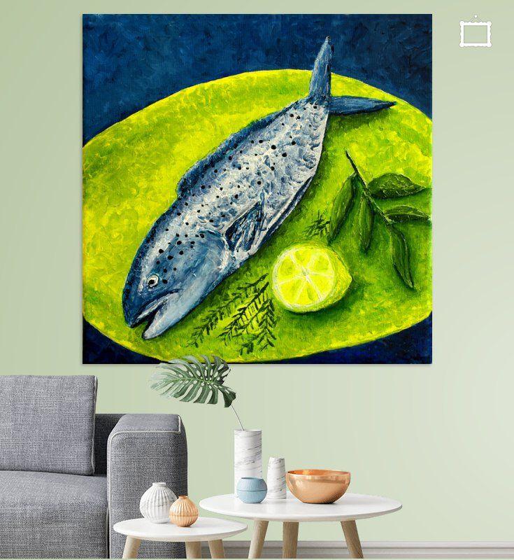 Fisch von Andrea Meyer Küche renovieren +++ Kitchen remodeling - wandbilder für küche