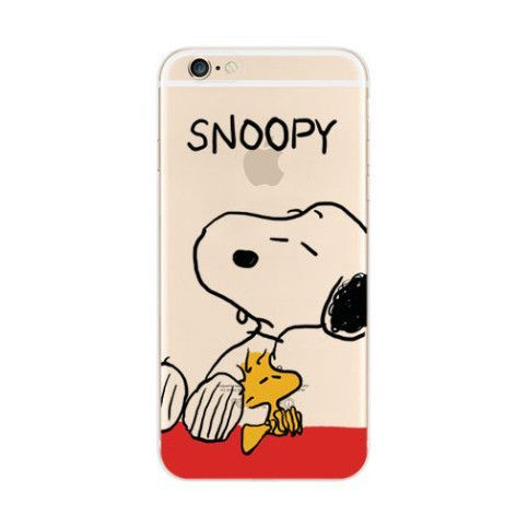 finest selection 2545a ab0b9 Snoopy Woodstock Nope iPhone 6s 6 Soft Clear Case | Phone Stuff ...