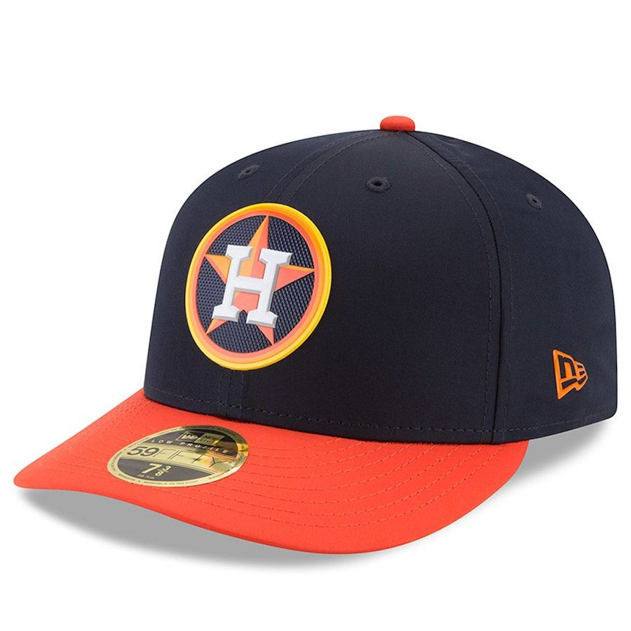 d85cc212a6f Men s Houston Astros New Era Navy 2018 On-Field Prolight Batting Practice Low  Profile 59FIFTY Fitted Hat
