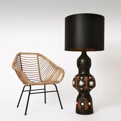 Georges Pelletier Grande lampe de sol Tall floor lamp