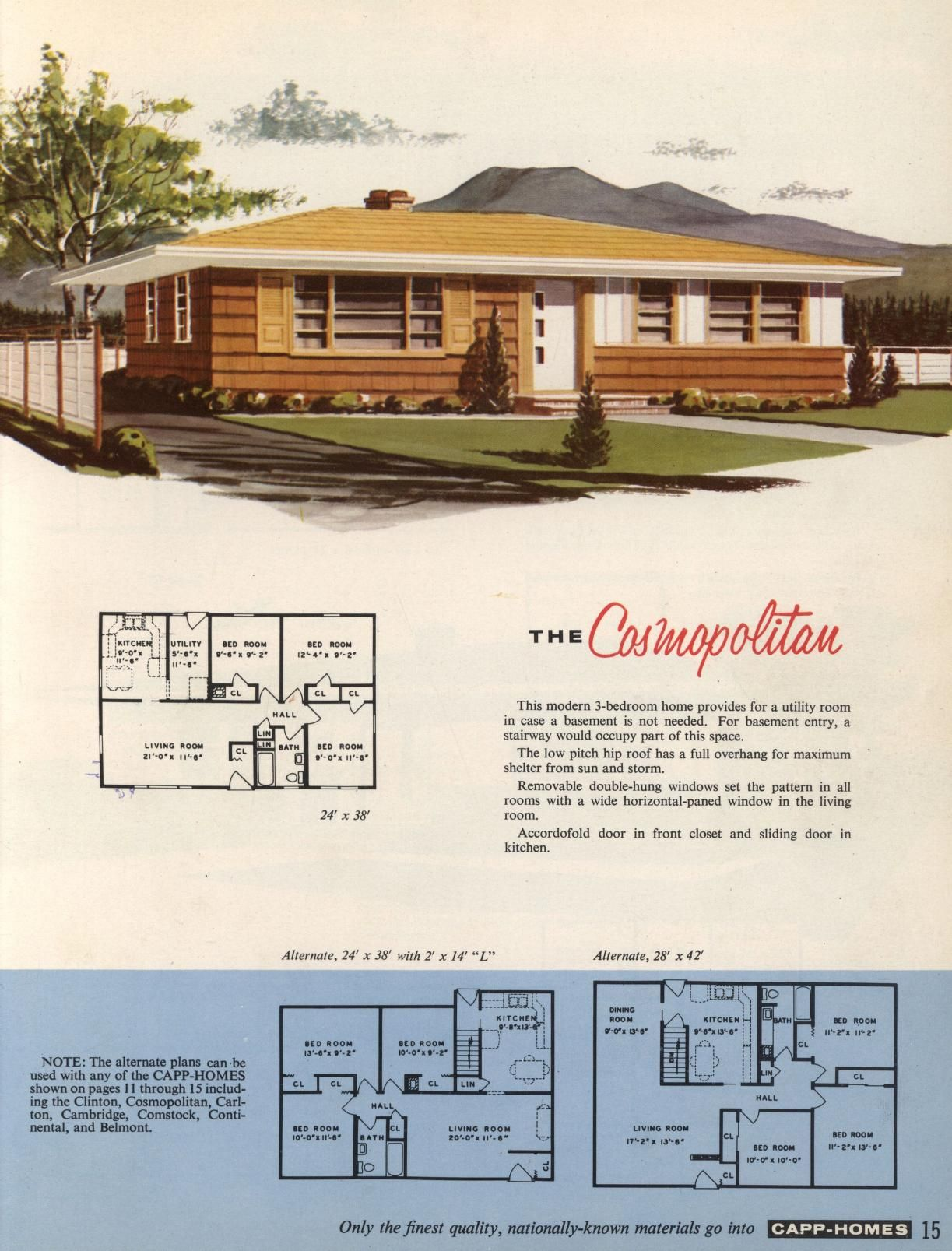 Capp homes custom built to your specifications m capp for 1950s council house floor plan