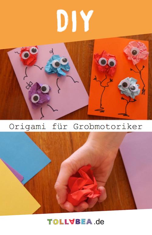Origami für Grobmotoriker - Geburtstagskarten mit Kindern basteln
