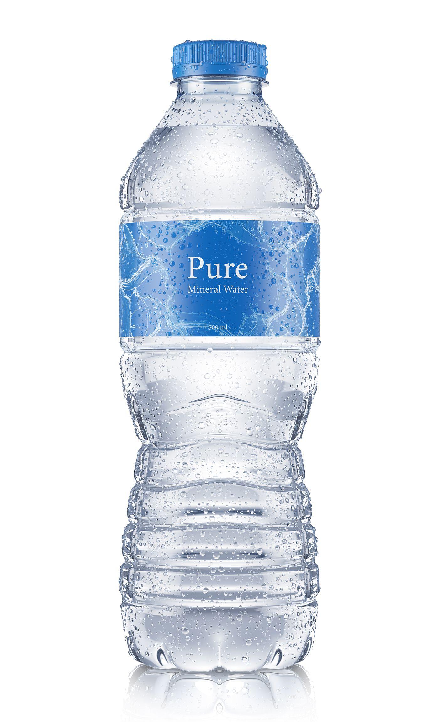 3d Beverages On Behance Water Bottle Label Design Water Bottle Design Pure Water Bottle