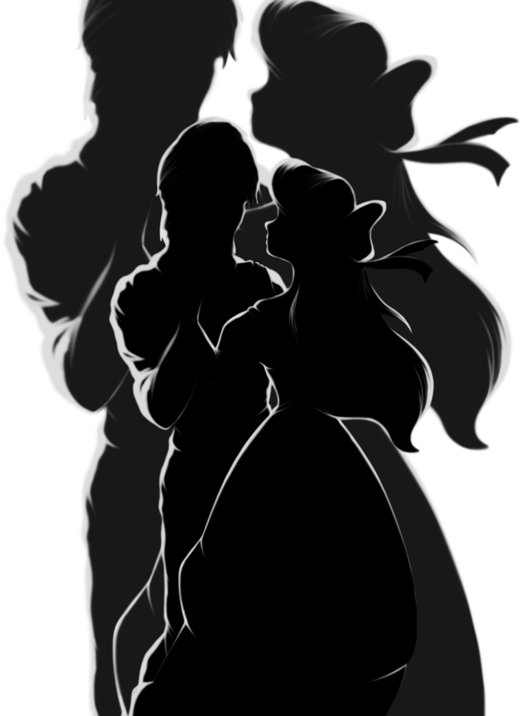 Silhouettes Ariel and Eric by marionlalala on deviantART