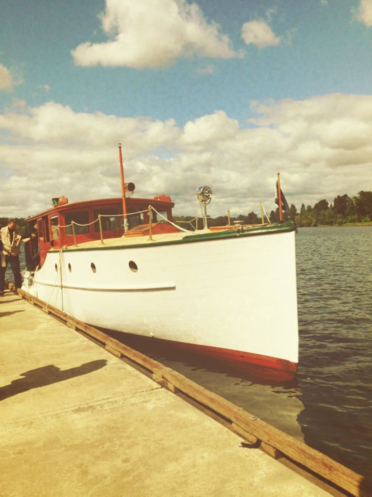 Dream boat cruises upon a 1929 wood boat we toured the