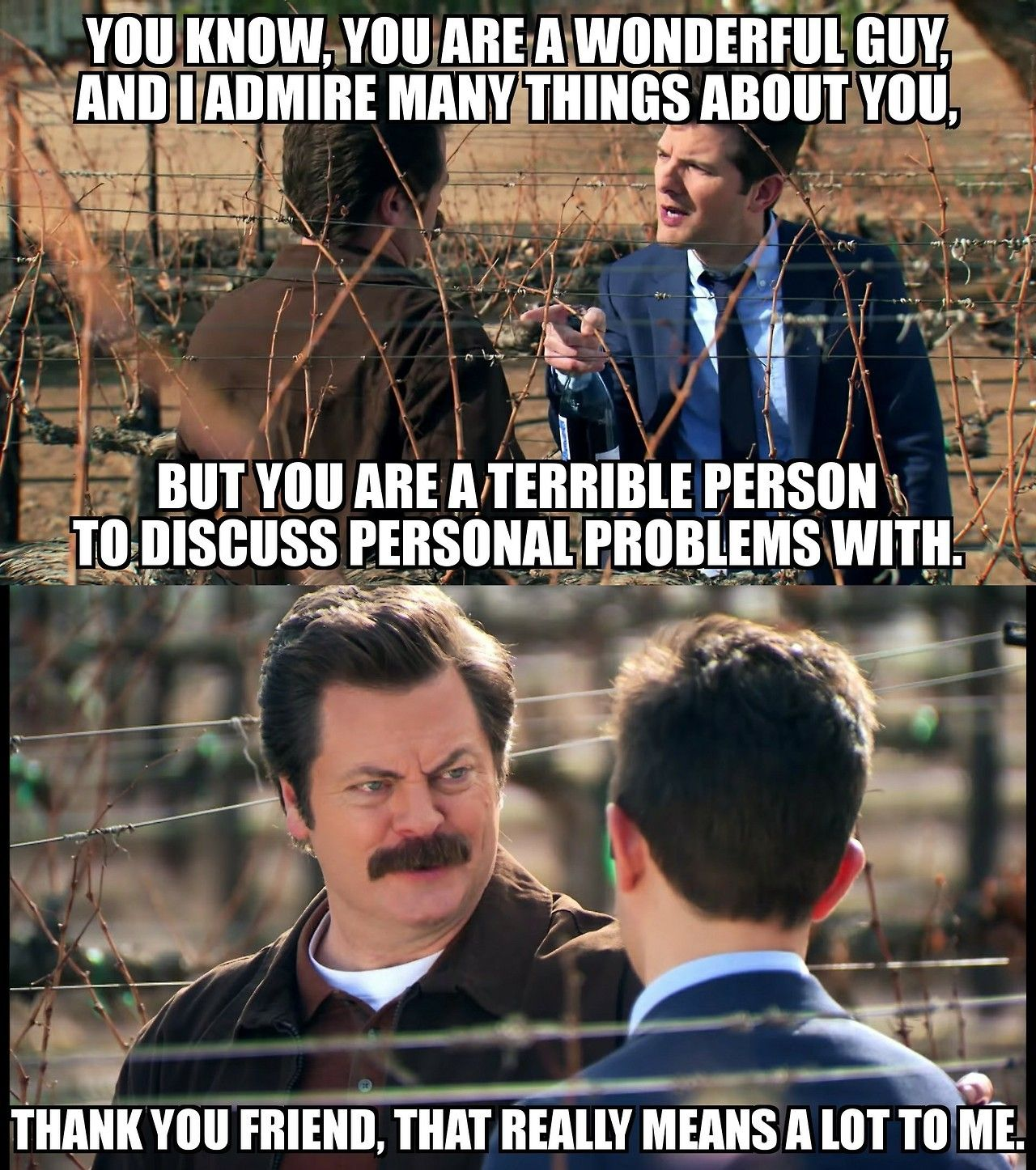 Ron Swanson. The person we all strive to be. http://ift.tt ...