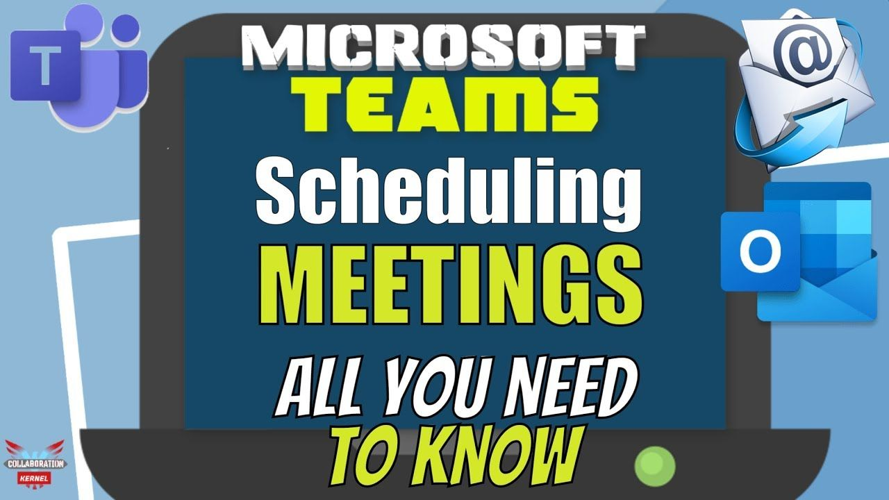Microsoft Teams Scheduling MEETINGS with Outlook (all you