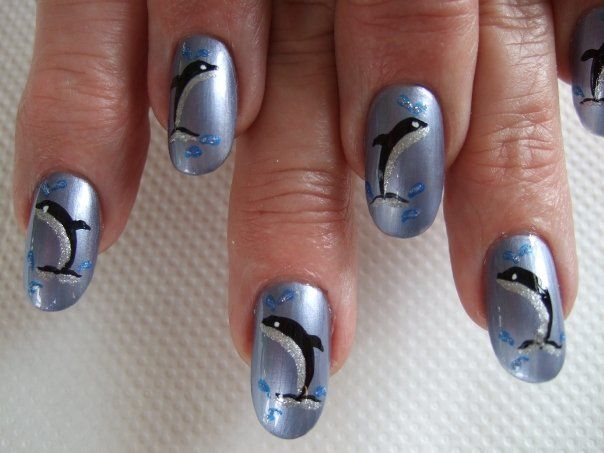 Dolphin nail art - Dolphin Nail Art Dolphin Nails Pinterest Dolphin Nails