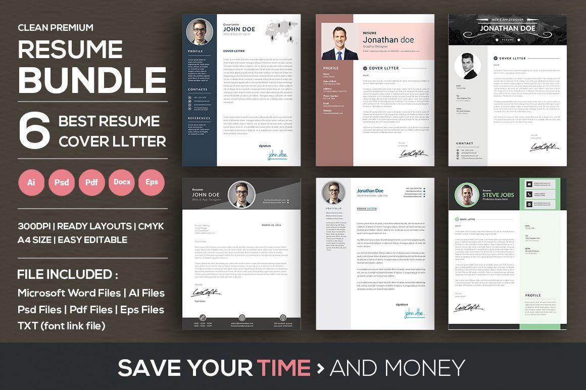 Clean Resume/CV Cover Letter Bundle Cv cover letter