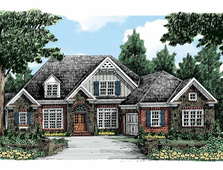 Traditional Style House Plan 4 Beds 3 5 Baths 2700 Sq Ft Plan 927 324 American Houses House Plans European House Plans