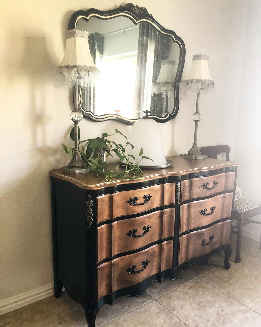Here Is The Full View Of The French Provincial Dresser Makeover