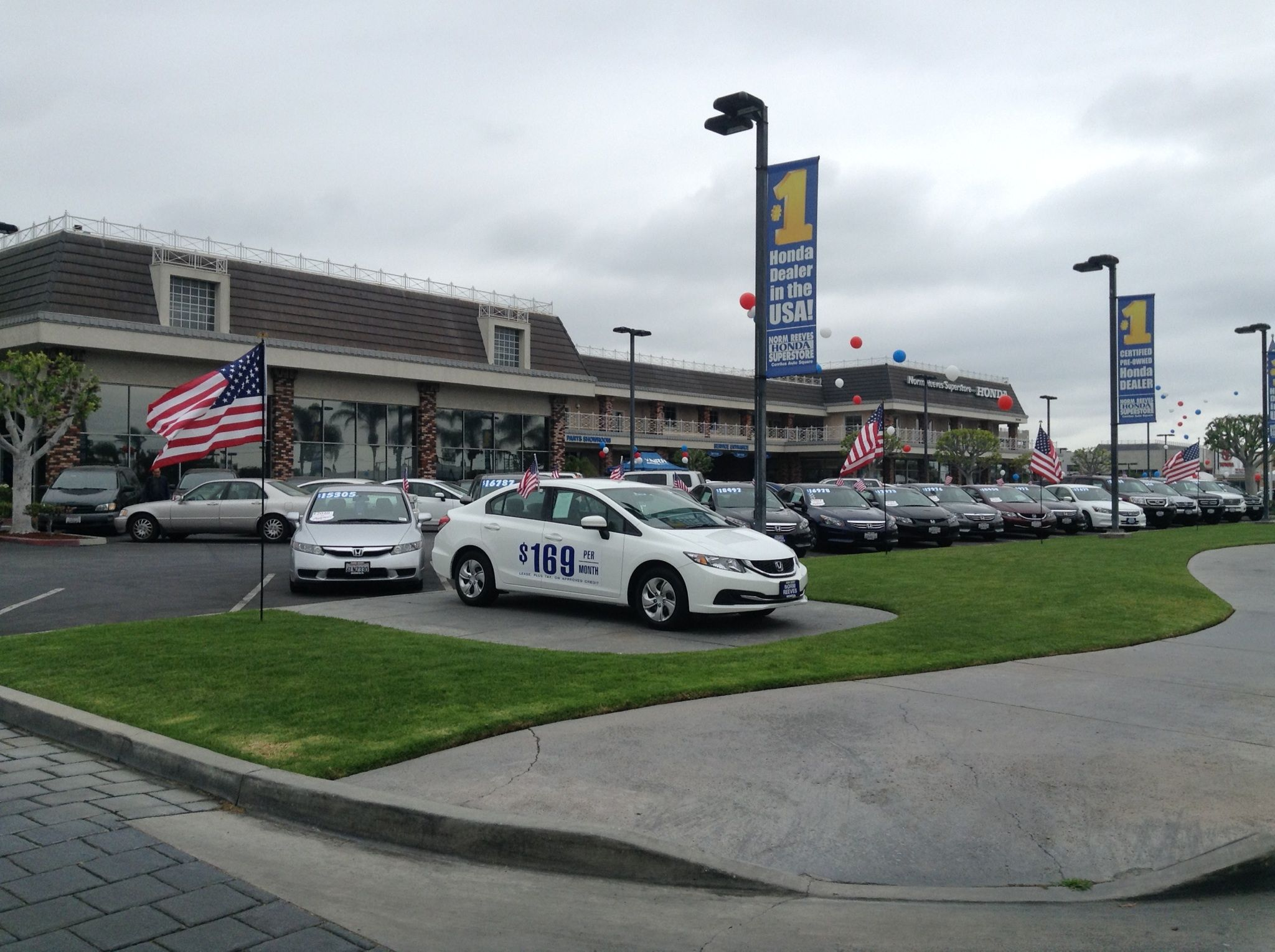 Norm Reeves Honda Superstore located in the Cerritos Auto Square can