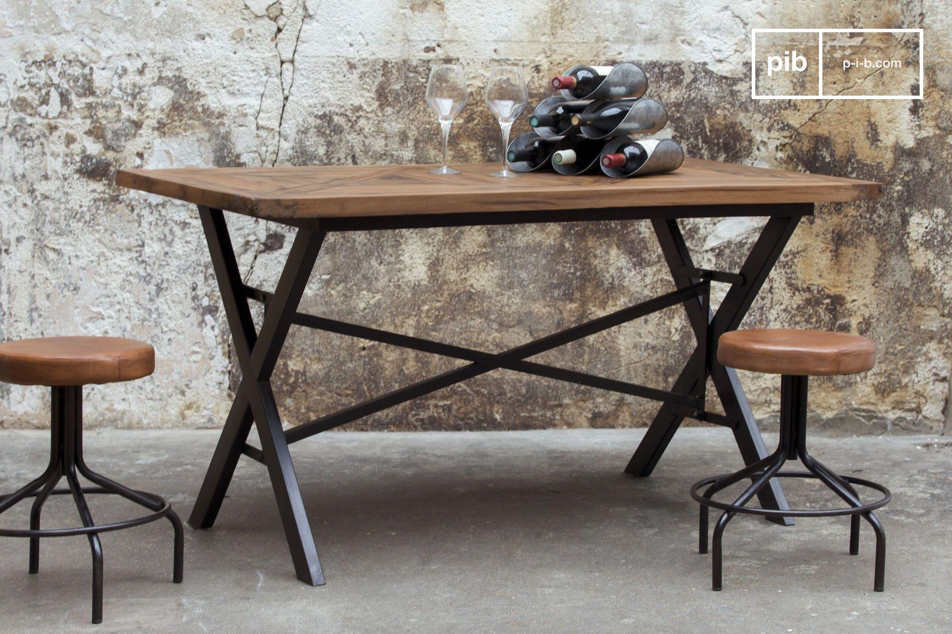 Tisch Cadé | Holz und metall, Tisch und industrieller Stil
