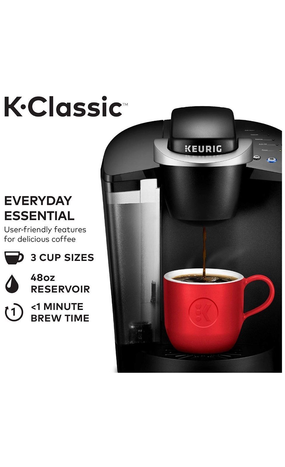 BREWS MULTIPLE KCUP POD SIZES (6, 8, 10 oz.) the most
