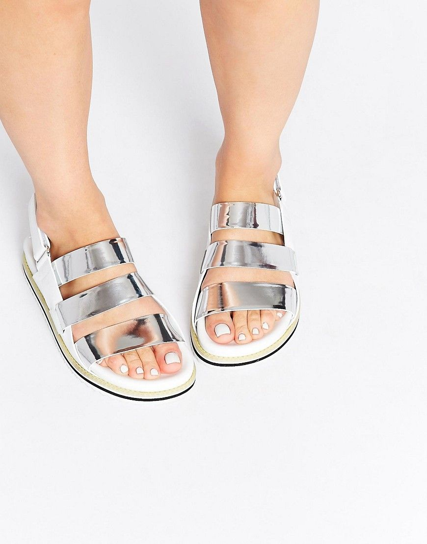 Buy Women Shoes / Whistles Okra Triple Strap Leather White Footbed Sandals