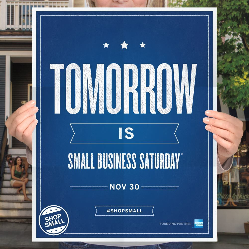 Celebrating Small Business Saturday on November 30th! Lots