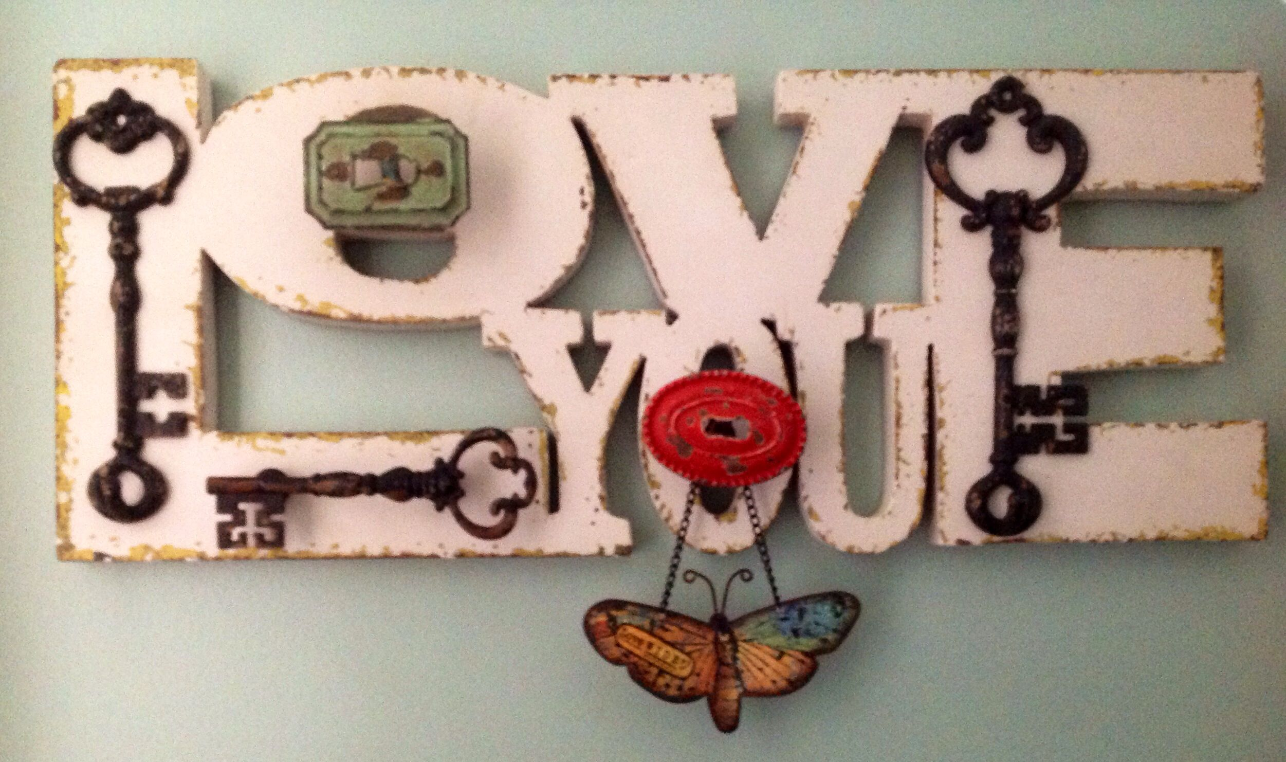 My Valentine :) Hung In my hallway ...Sweet part of a grouping on the wall.