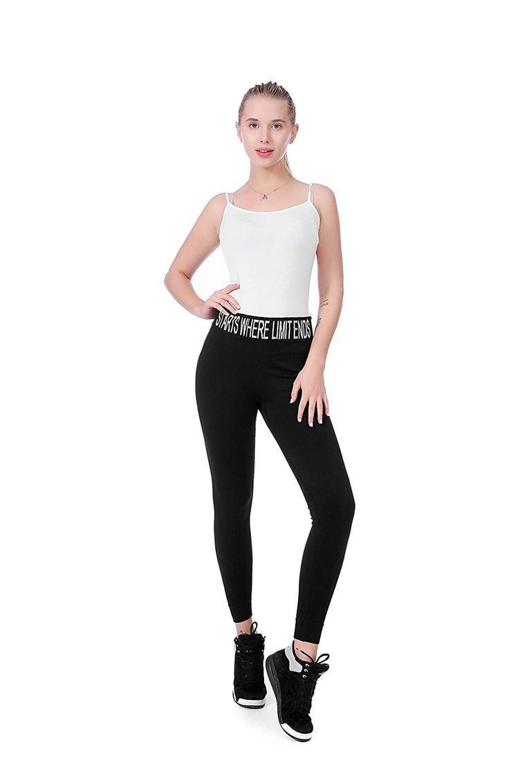 Long Women Leggings Slim Casual Fashion Fitness Black Yoga Pants Pluse Size Yoga Pants Waist - C518L...