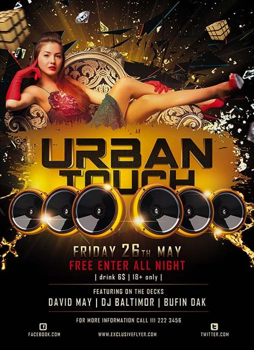 Urban Touch Free Psd Flyer Template  Allanennox