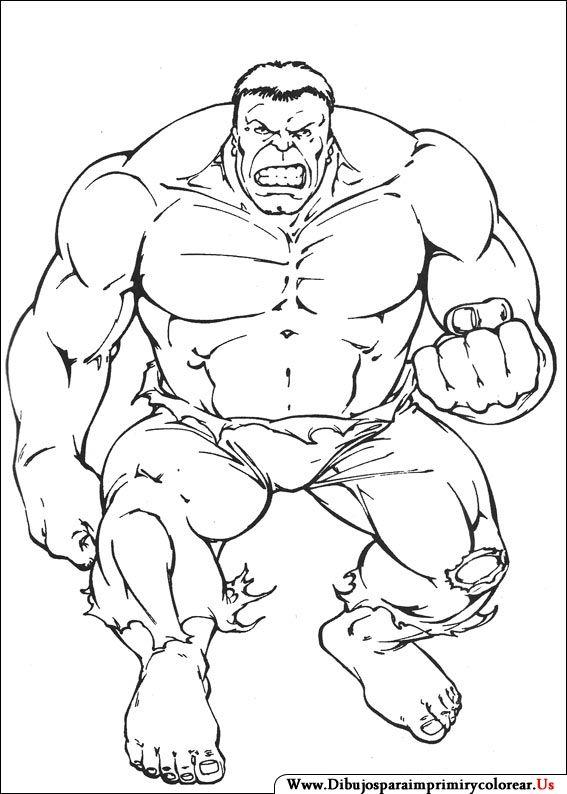 Dibujos de Hulk para Imprimir y Colorear  Para colorear