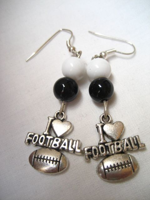 Collingwood Football Earrings $10.00 plus postage