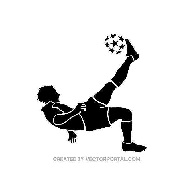 Soccer Player Kicking Ball Free Vector | Free Vectors ...