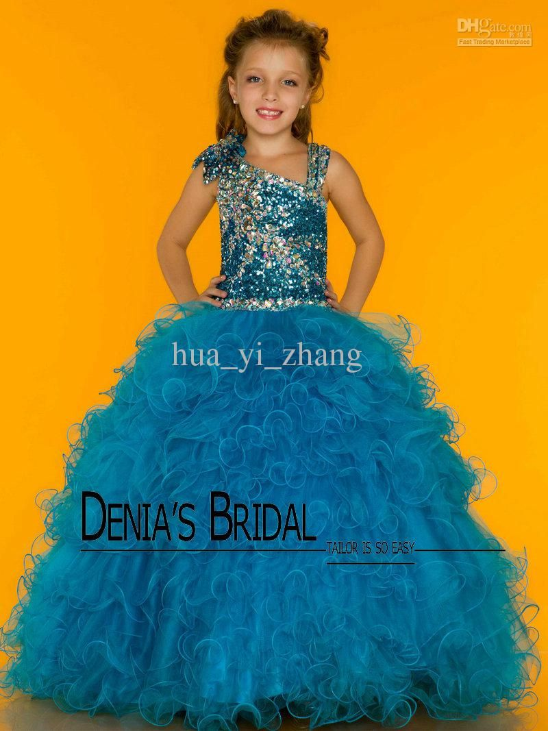 little girls pageant dresses   2013 Hunter Pink Little Girl Ball ...