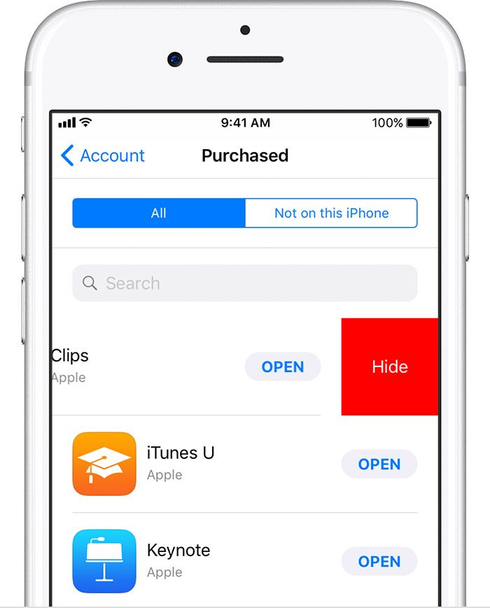 Hide apps for your iPhone, iPad, iPod touch, or Mac