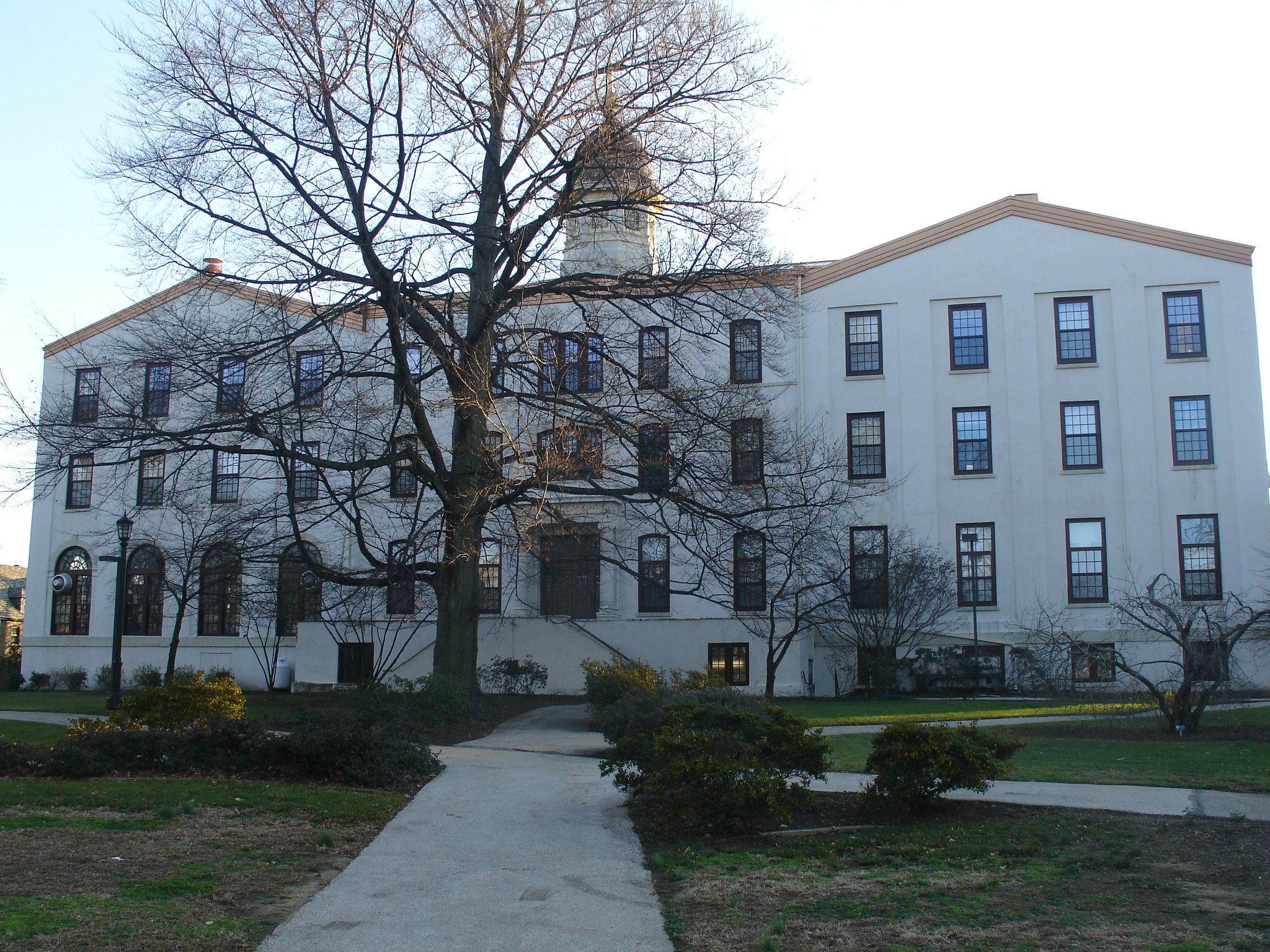 Front view of the Alumni Hall