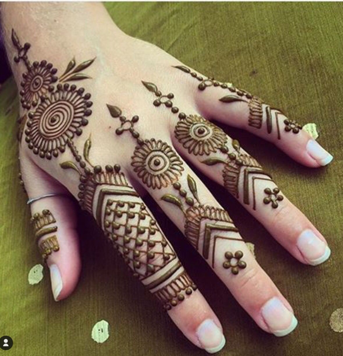 Stylish Latest Finger Mehndi New Mehndi Designs