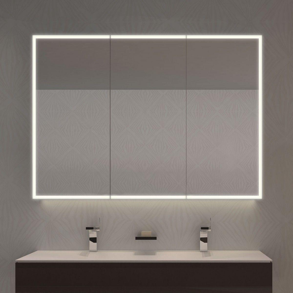 Spiegelschrank Nach Mass Mit Led Credo 989705563 Spiegelschrank Spiegelschrank Beleuchtung Badezimmer Spiegelschrank