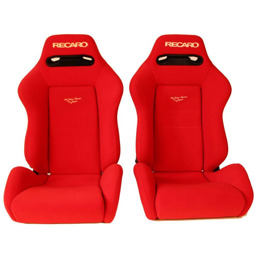 Incredible Pair Of Used Jdm Recaro Sr3 Red Bucket Sport Seats Racing Theyellowbook Wood Chair Design Ideas Theyellowbookinfo