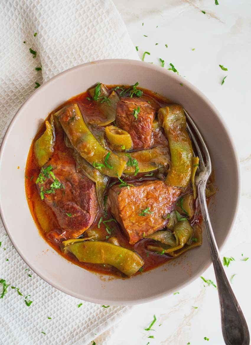 Healthy Beef Stew With Green Beans CarbFree, Gluten