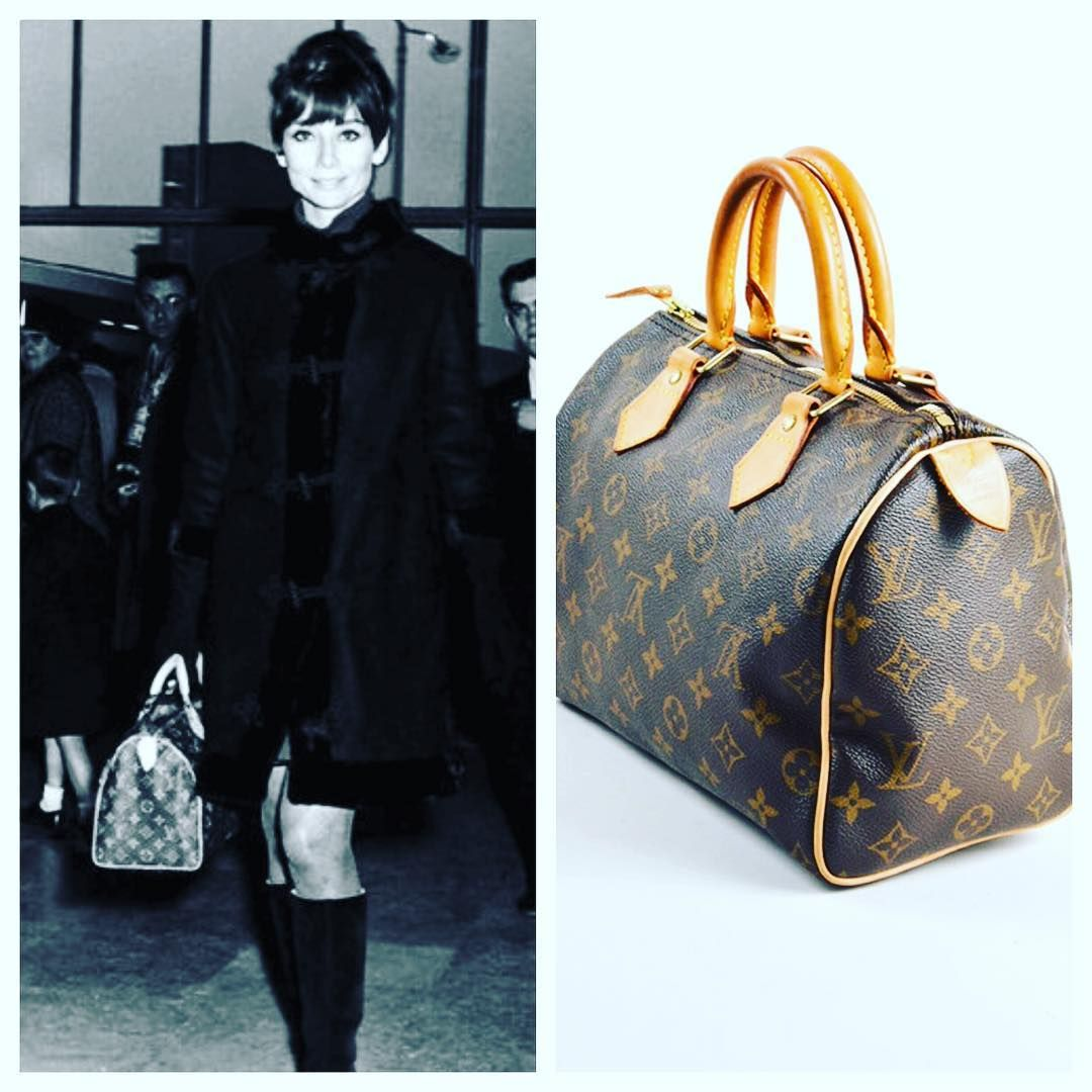 d3ffb2db6196 Audrey Hepburn carrying the Louis Vuitton Speedy bag
