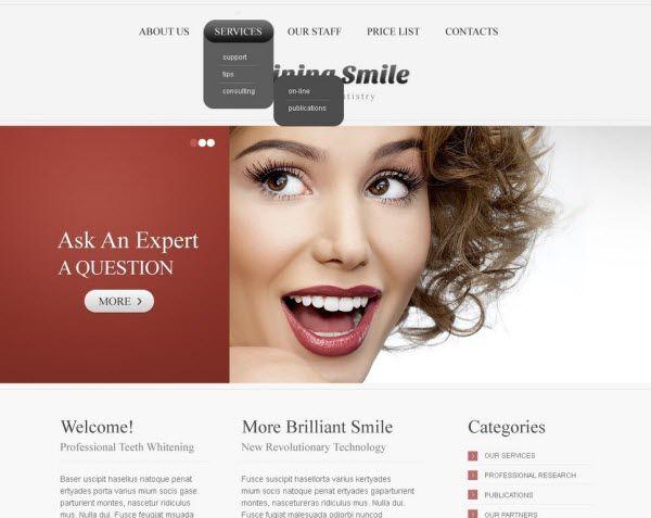 dental website templates