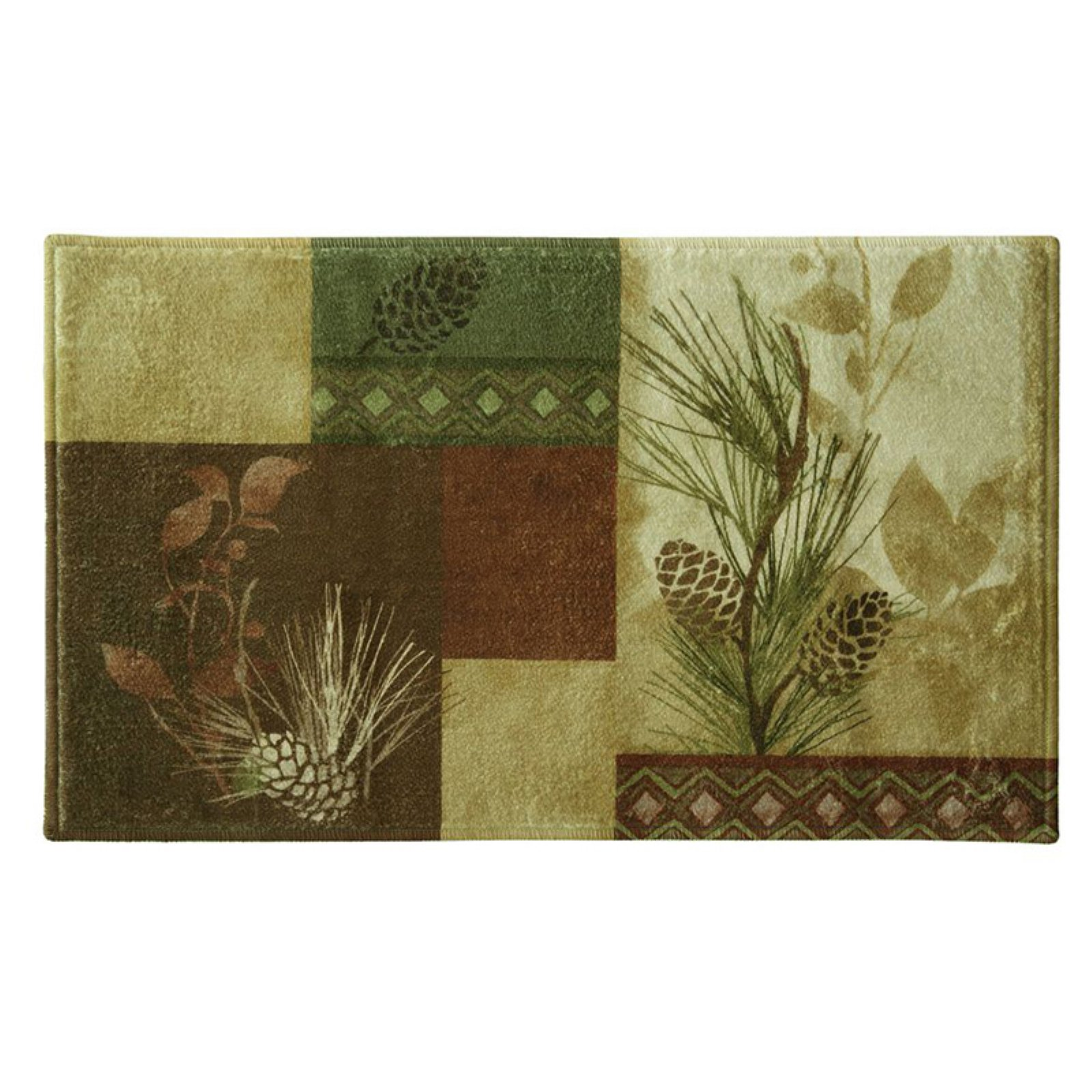 Bacova Pine Cone Silhouette Bath Rug Products In 2019 Rugs