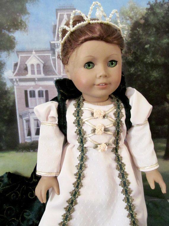 Queen Costume, Halloween Costume, Coronation Gown, Beaded Crown ...