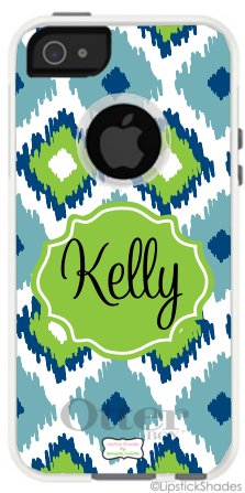 Ikat Trios Blues Iphone 5 Otterbox Case/Shades $69.99