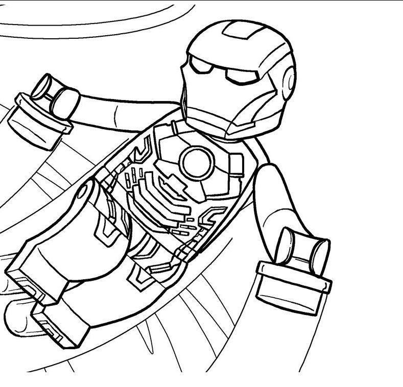 lego marvel printable coloring pages by diana - Coloring Pages Superheroes Ironman