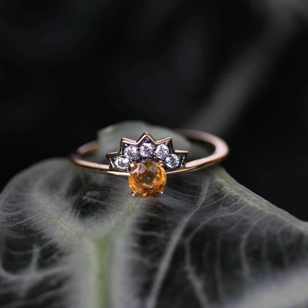 Citrine Sunburst Vintage Style Ring Silver Or Gold Vintage Style Rings Silver Ring Designs Silver Rings
