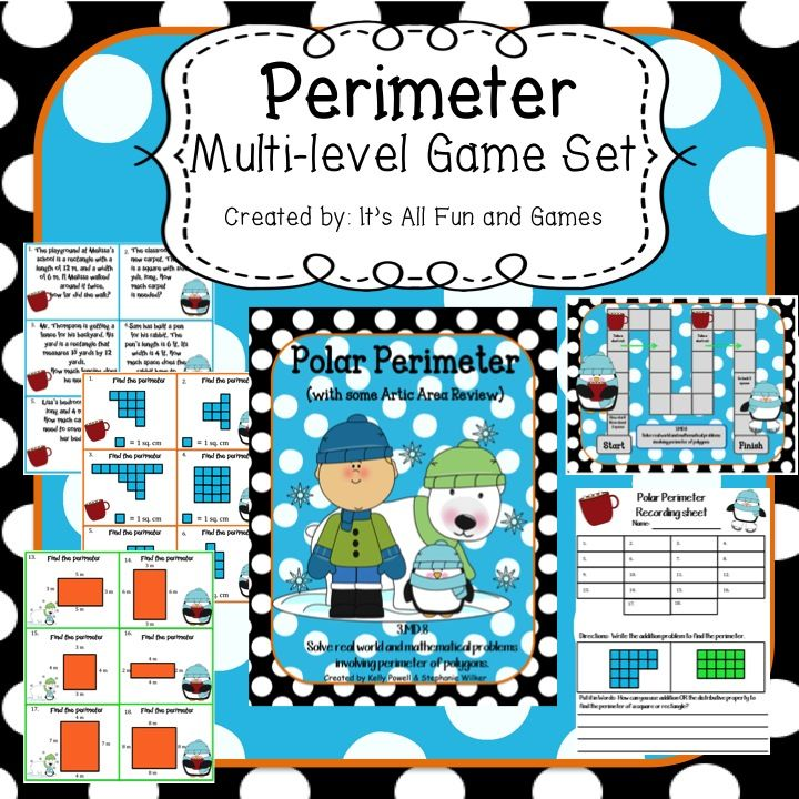 Perimeter & Area Game | Recording sheets, Game cards and Math