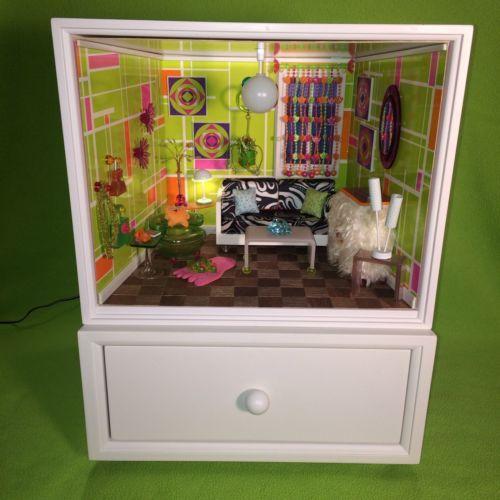 American Girl AG Minis Illuma Room Holiday Christmas Tree Set Complete Works