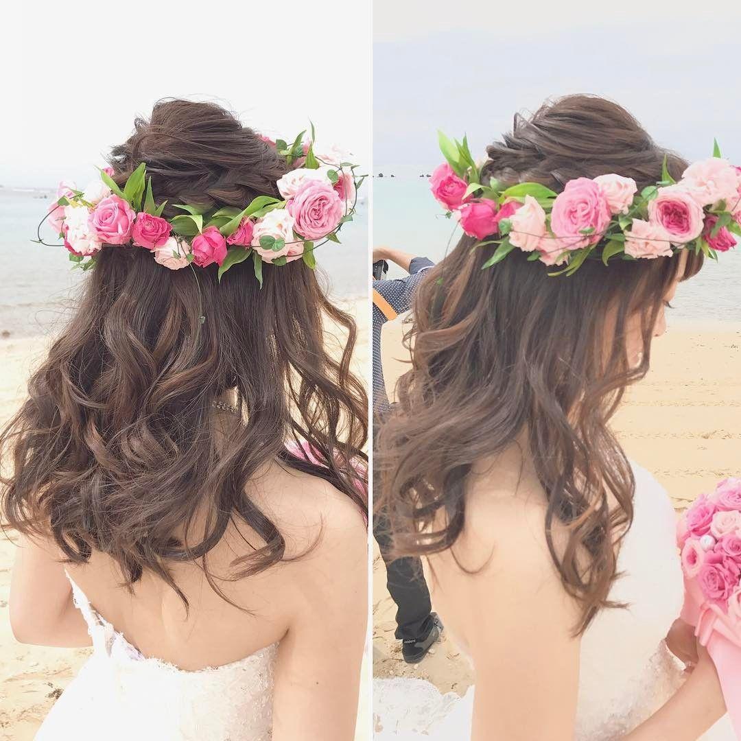 上品で可愛いハーフアップのブライダルヘアカタログ Marry マリー ウェディング ヘアスタイル ブライダルヘア 髪型 ハーフアップ
