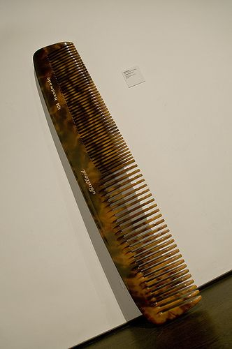 Vija celmins untitled (comb) at lacma  (77 inches tall)