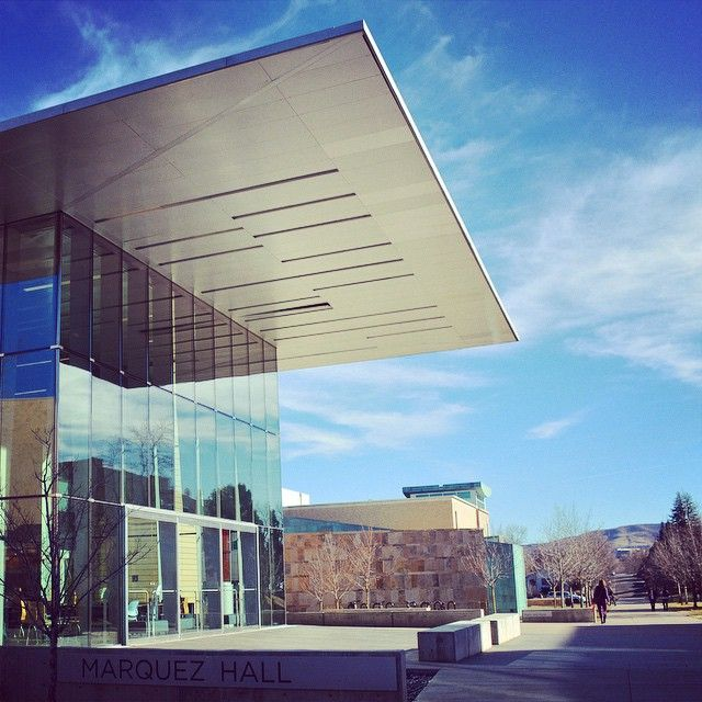 Reflecting on finals week with some afternoon sunshine. #mineslife