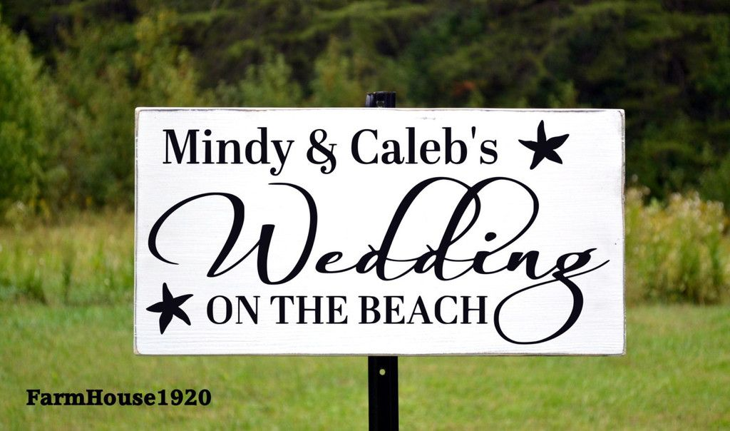 Directional Welcome Wedding Sign Personalized Reception Ceremony Sign