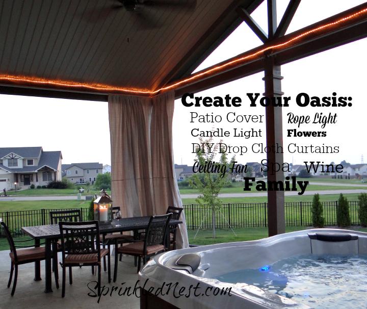 DIY Outdoor Drop Cloth Curtains