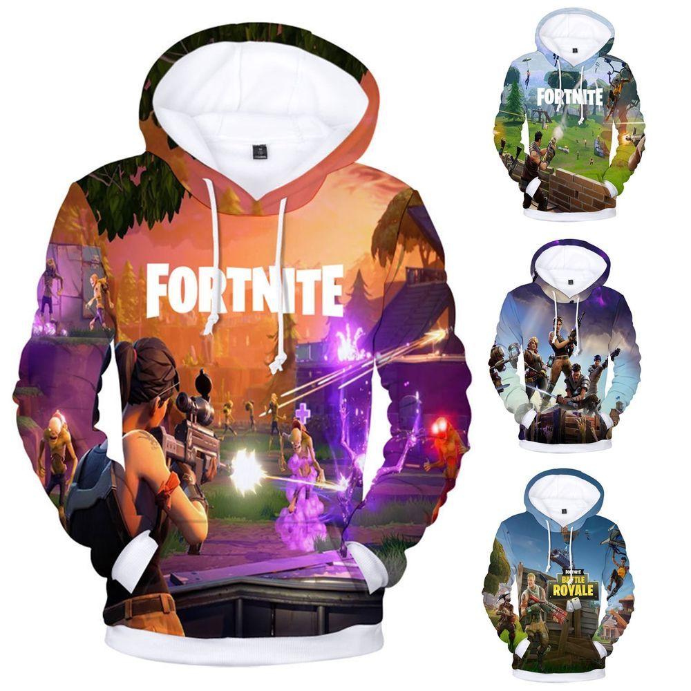 Men Women S Hoodie 3d Fortnite Game Print Sweater Sweatshirt