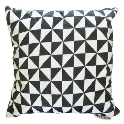 "Maxwell Dickson Triangle Throw Pillow Size: 18"" H x 18"" W x 5"" D"